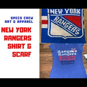 New York Rangers women's t-shirt & scarf
